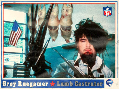 Grey Ruegamer New York Giant Lamb Killer