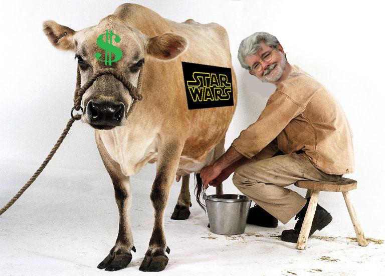 cash cow star wars george lucas