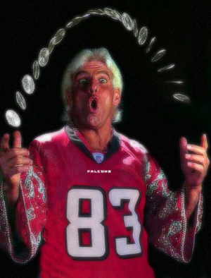 Ric Flair Atlanta Falcons Coin Toss