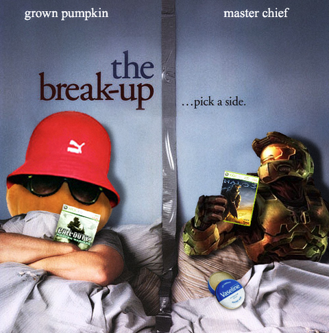 Grown Pumpkin Break-Up with Halo 3 for COD 4