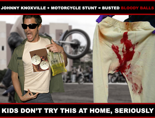 Jackass Johnny Knoxville Bloody Balls
