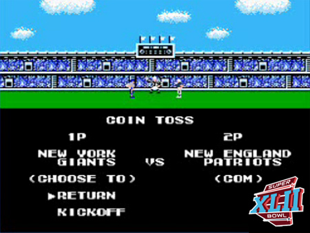 Super Bowl XLII Simulated by Tecmo Bowl