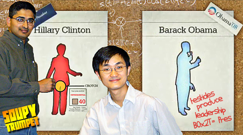 Barack Obama and Hillary Clinton Charts