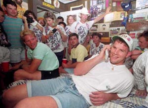 Brett Favre in Jean Shorts
